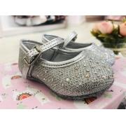 Sapato Pampili Prata com brilhos