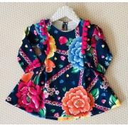 Vestido Mon Sucré Casual Jardim com detalhes em pompom
