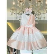 Vestido Petit Cherie Princesa com detalhes em pérolas