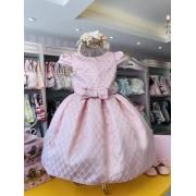 Vestido Petit Cherie Rose com detalhes de pérolas no busto