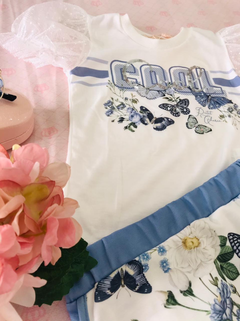 CONJUNTO SHORT-SAIA E CAMISETA PETIT CHERIE BLUE ROMANTIC 002