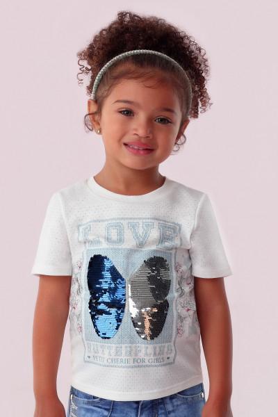 T-SHIRT CAMISETA INFANTIL PETIT CHERIE ROSE GARDEN 016