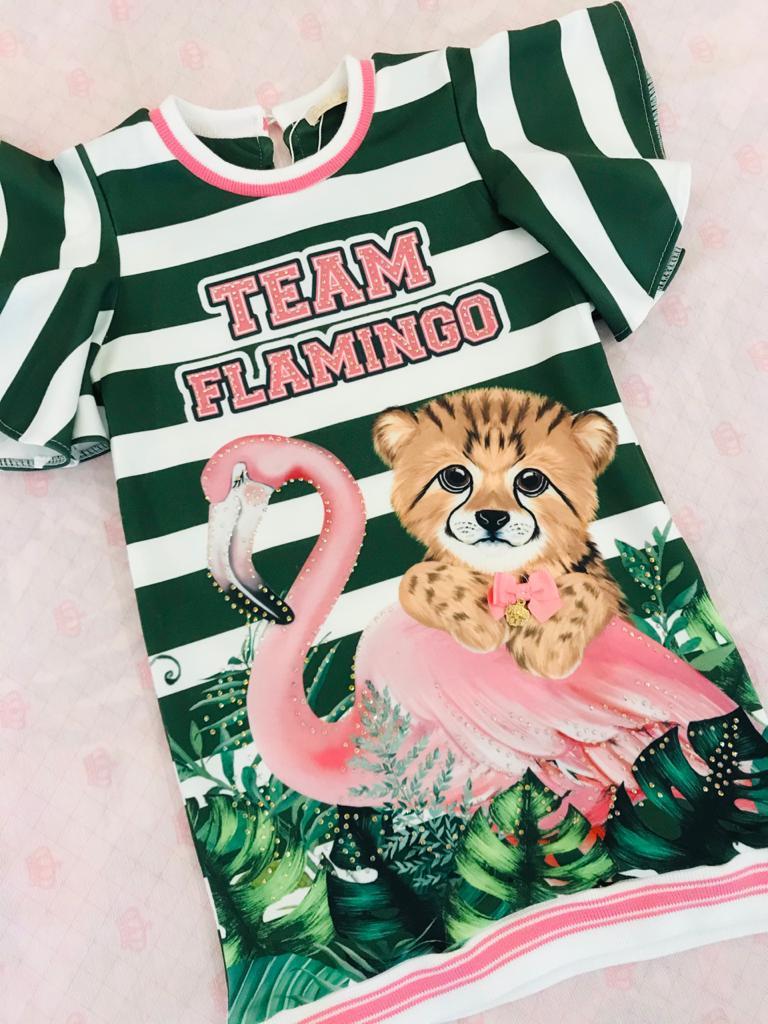 Vestido Casual Petit Cherie Team Flamingo 054
