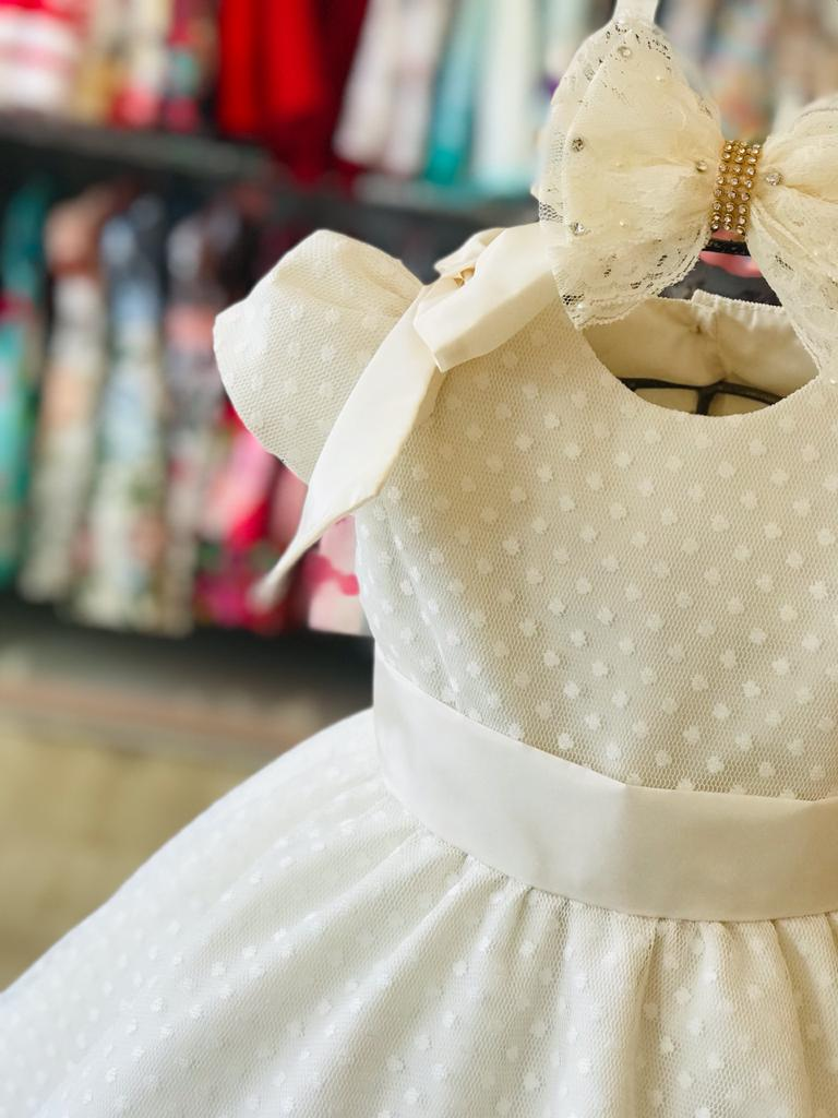 VESTIDO INFANTIL KENNDRA COM TULE POINT SPRIT