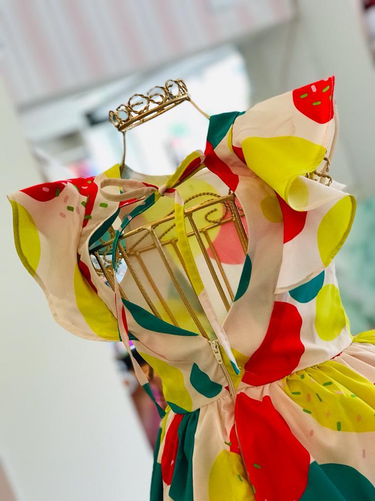 Vestido Malagah Fluido Estampa Colorida