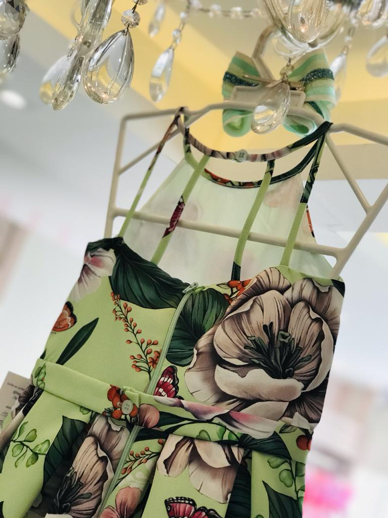 Vestido Petit Cherie Conceito Longo floral