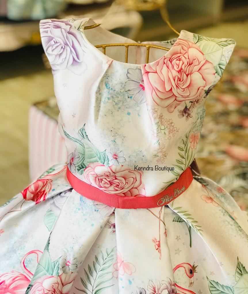 Vestido Petit Cherie Flamingo