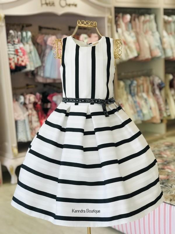 Vestido Petit Cherie Kids Listras