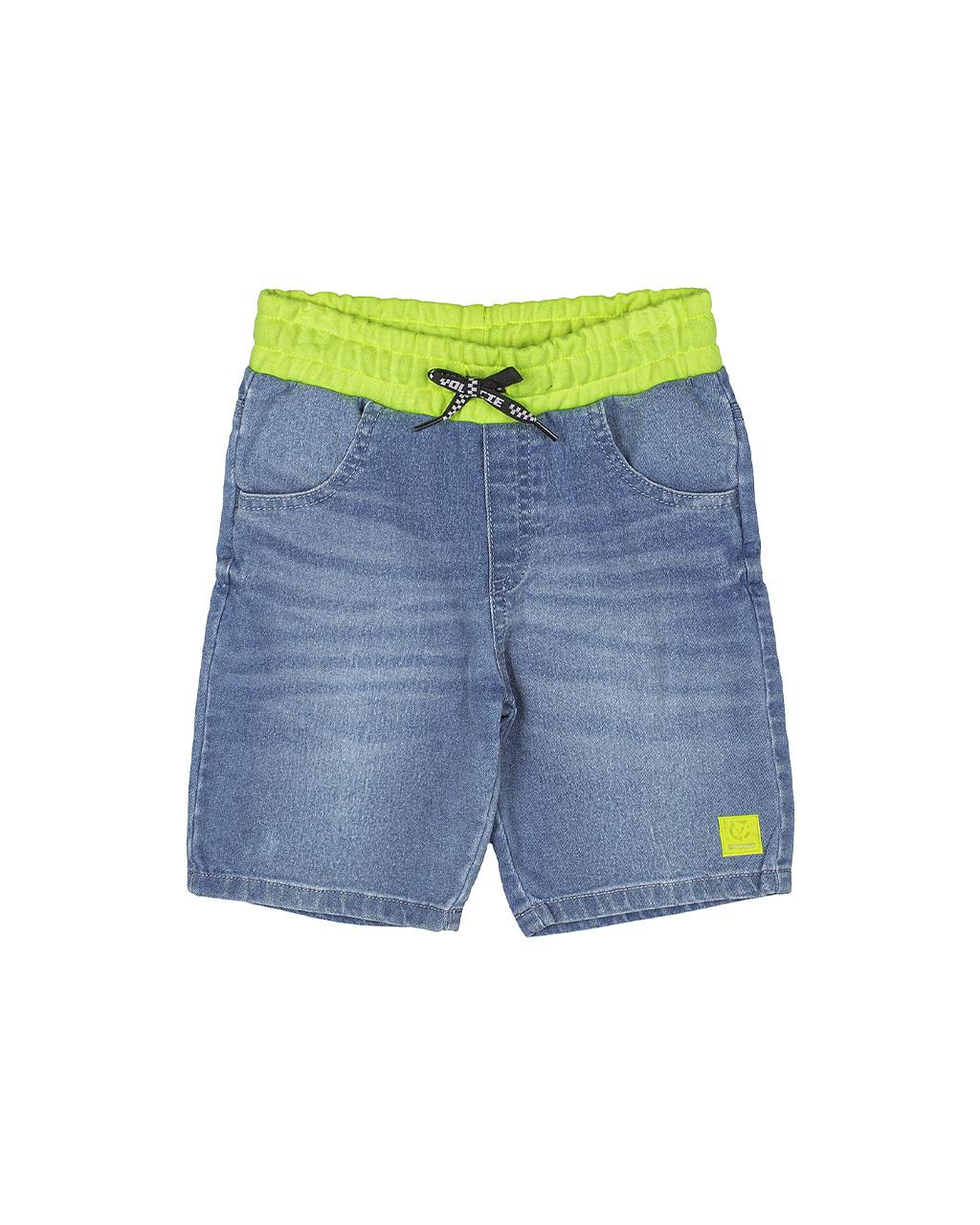 Bermuda Infantil Com Cós Neon Jeans Youccie