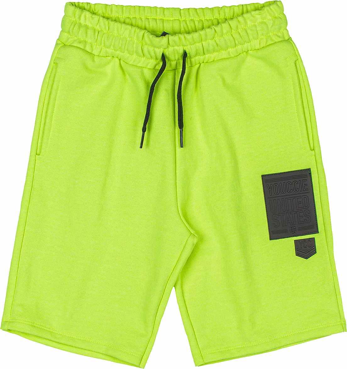Bermuda Infantil Moletom Verde Neon Youccie