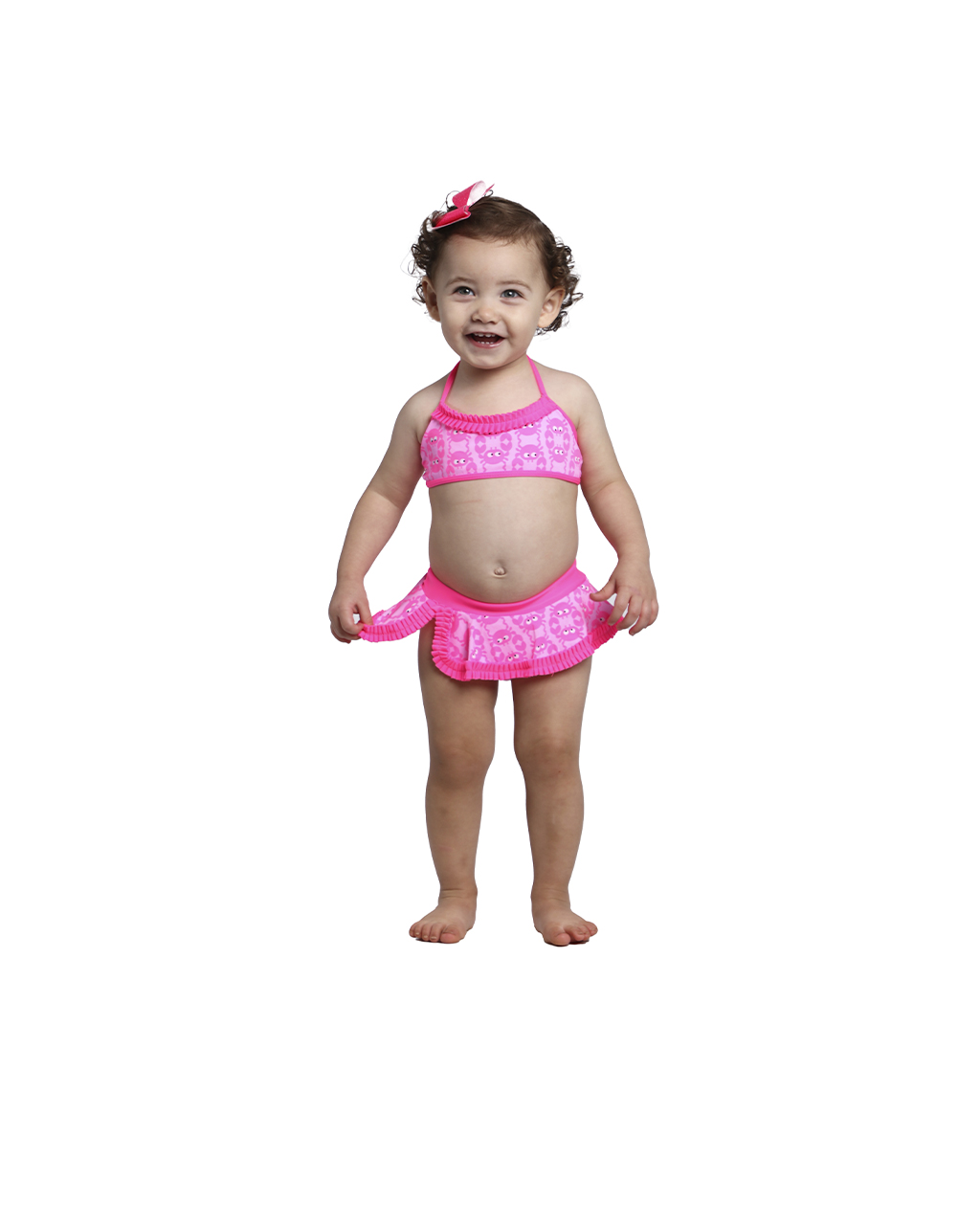 Biquini Infantil rosa Siri