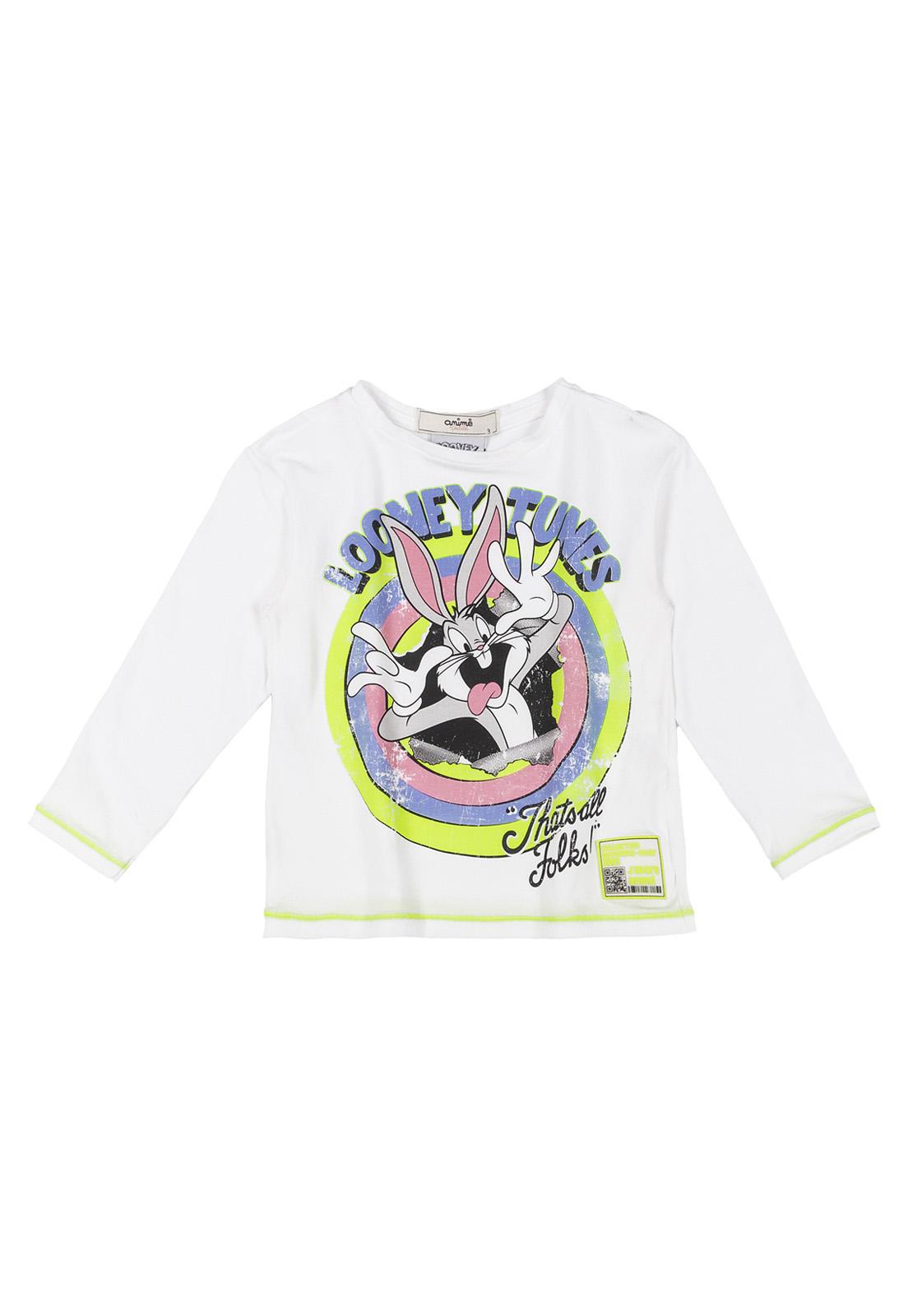 Blusa Infantil Cotton Off WIthe com Arte Pernalonga Animê