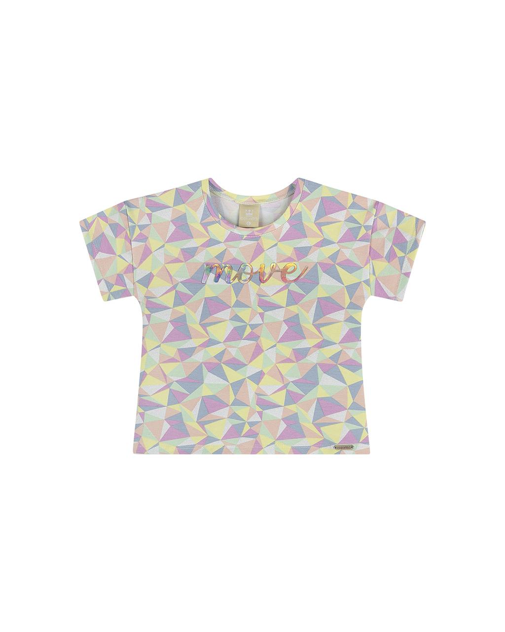 Blusa Infantil Geometrica Coloritta