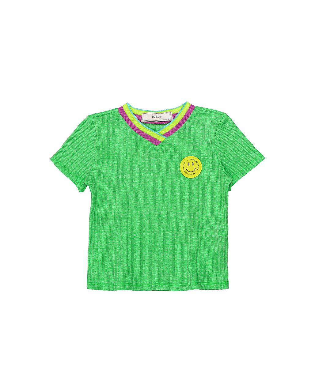 Blusa Infantil Gola Colorida Animê
