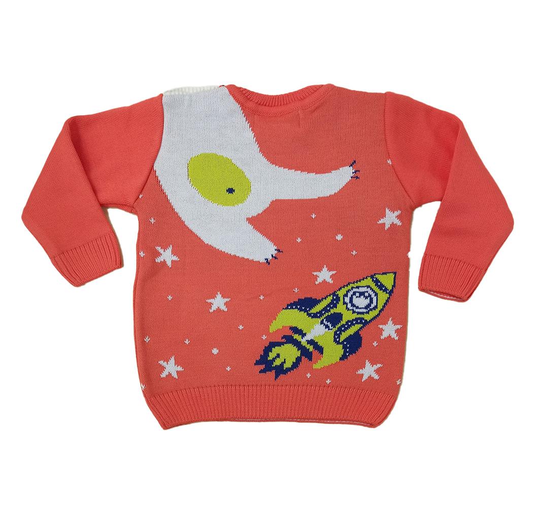 Blusa Infantil Masculina Tricô Urso Polar Estrelado Mini Lord