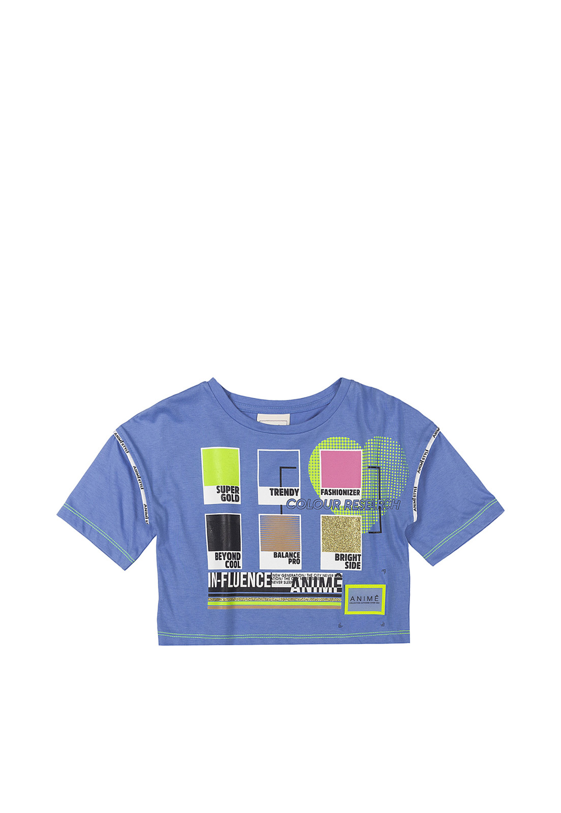 Blusa Infantil Pantone Influencer Azul Animê