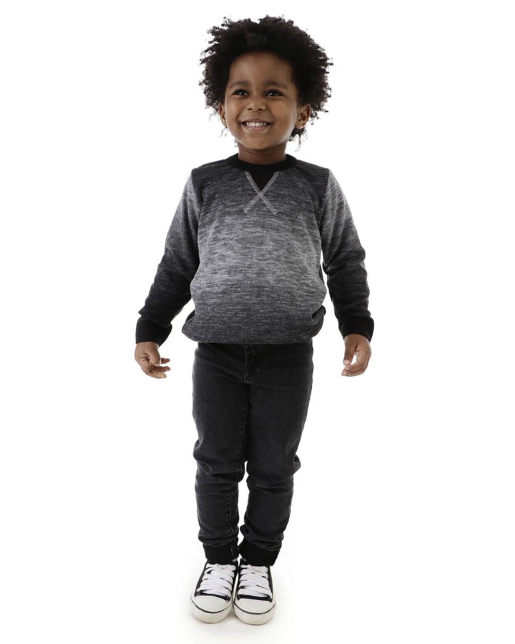Blusa Infantil Tricô Masculino Mescla Mini Lord