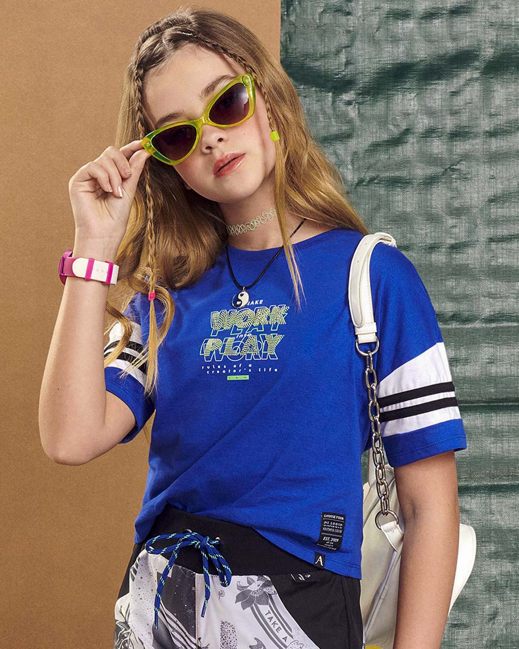 Blusa Teen Feminina Work Play Azul Royal I Am