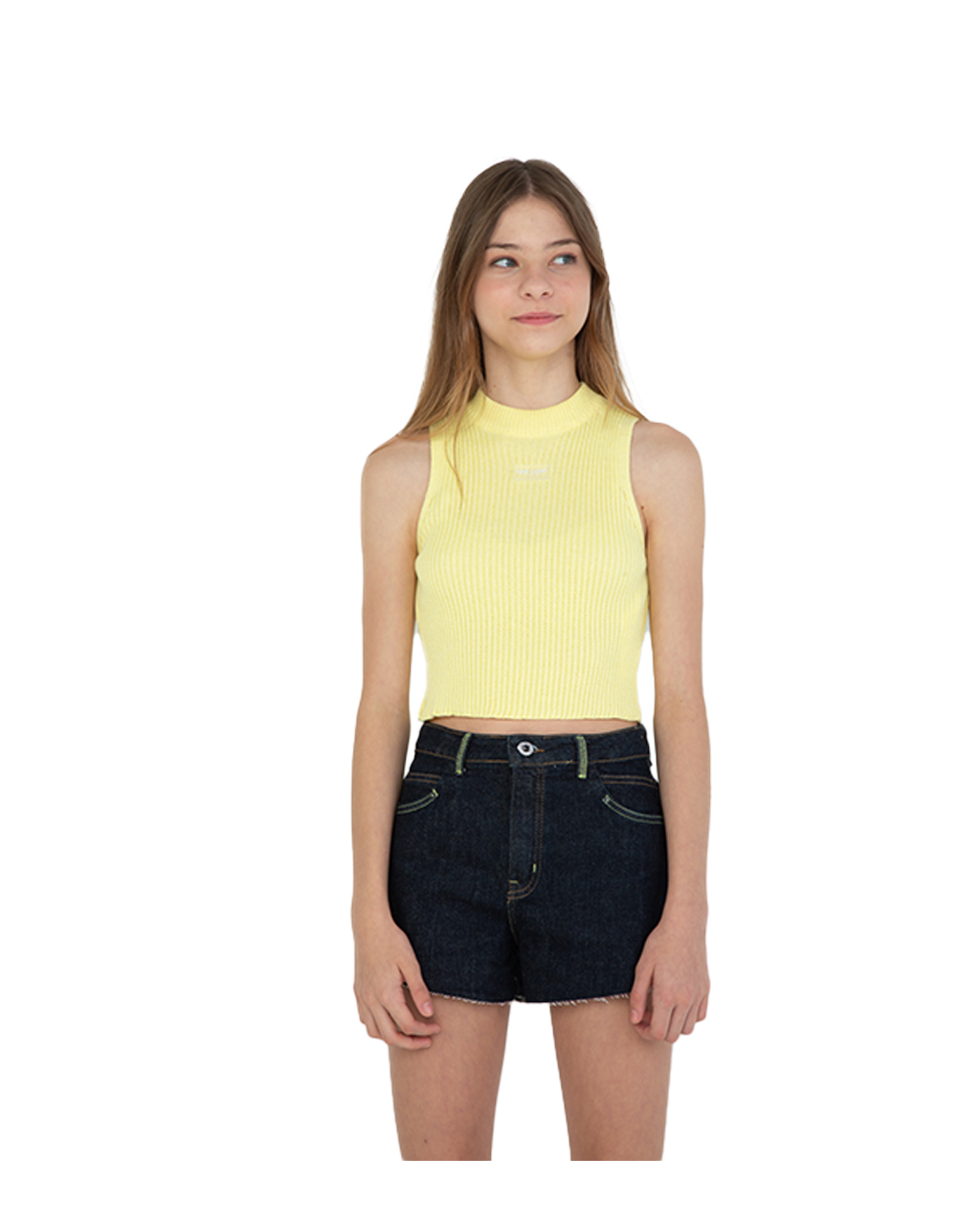 Blusa Teen Trico Amarelo Dimy Candy