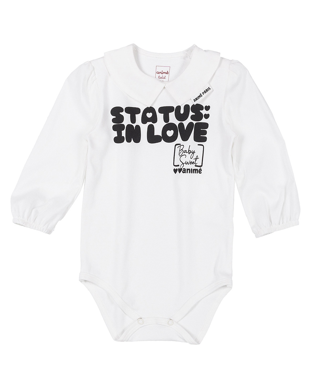 Body Baby Tricoline com Cotton Animê