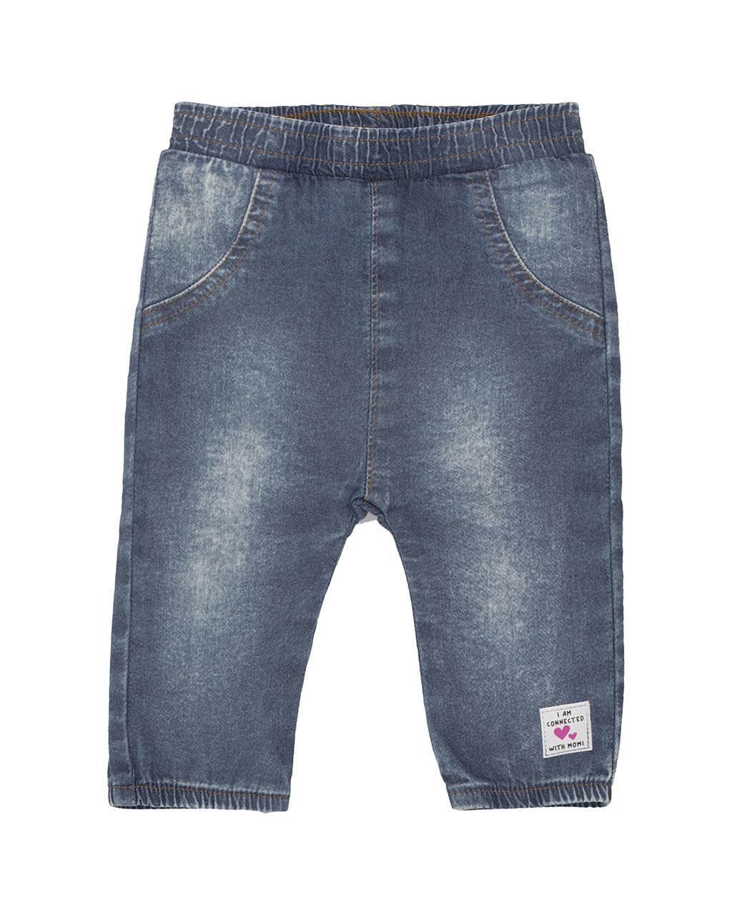 Calça Baby Jeans Jogger Momi