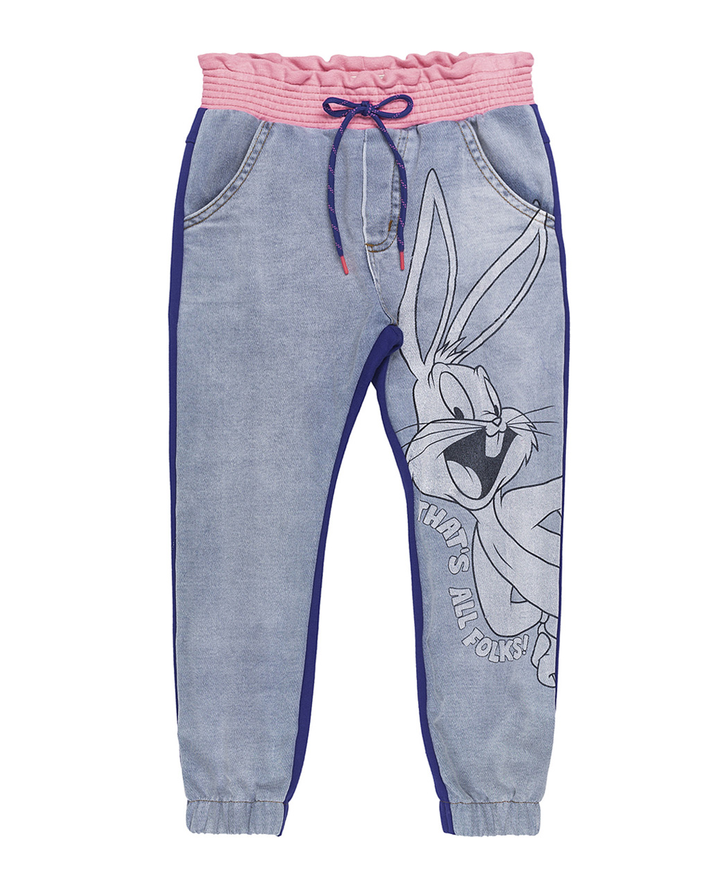 Calça Infantil Jeans Estampa Pernalonga Licenciada Animê