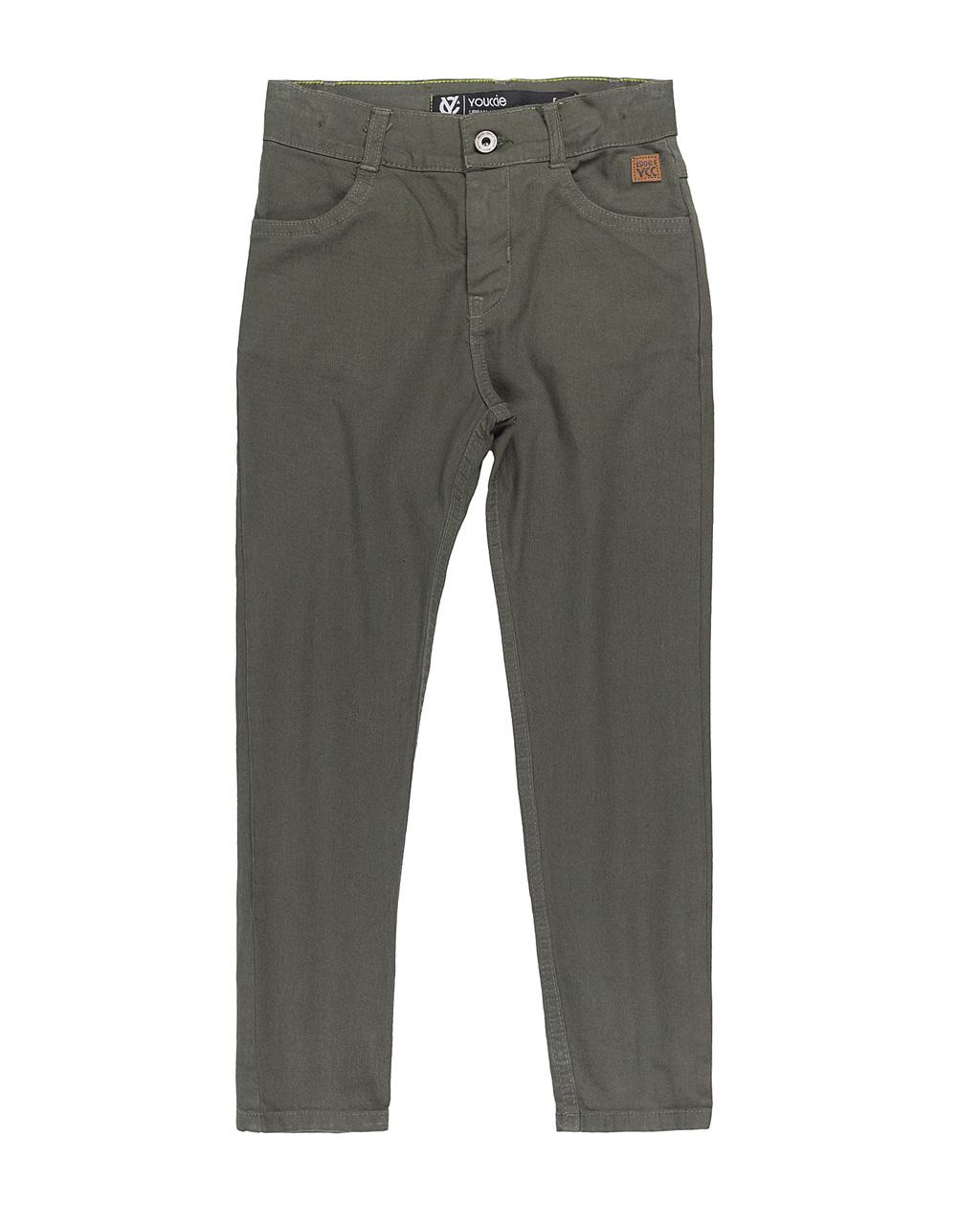 Calça Infantil Jeans Sarja Verde Militar Youccie