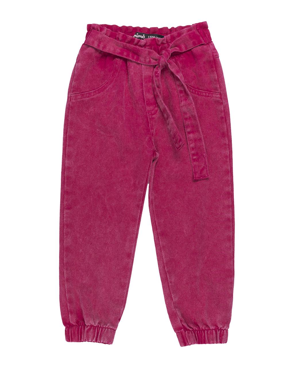 Calça Infantil Sarja Pink Animê