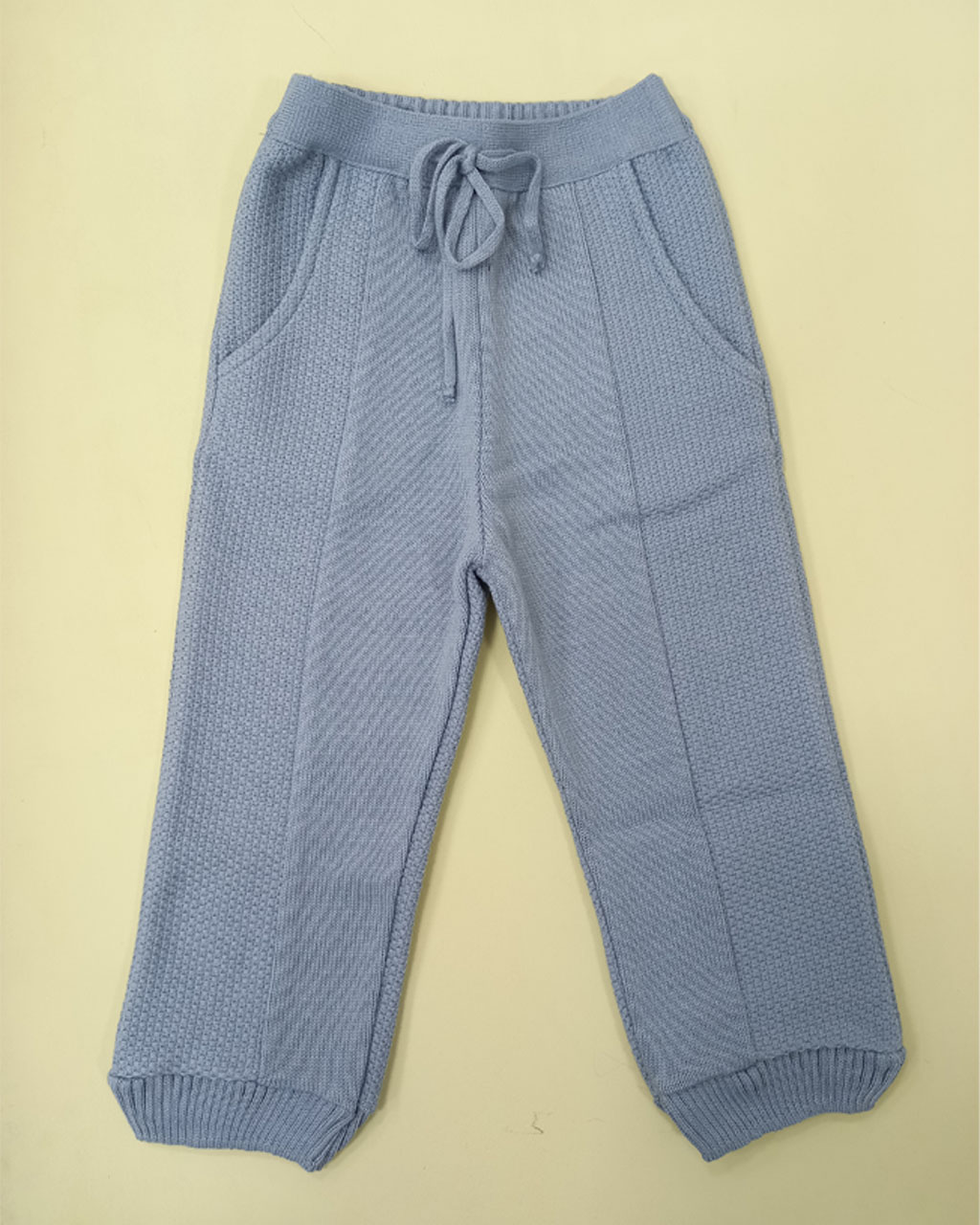Calça Infantil Tricô Bolso Faca Azul Mini Lord