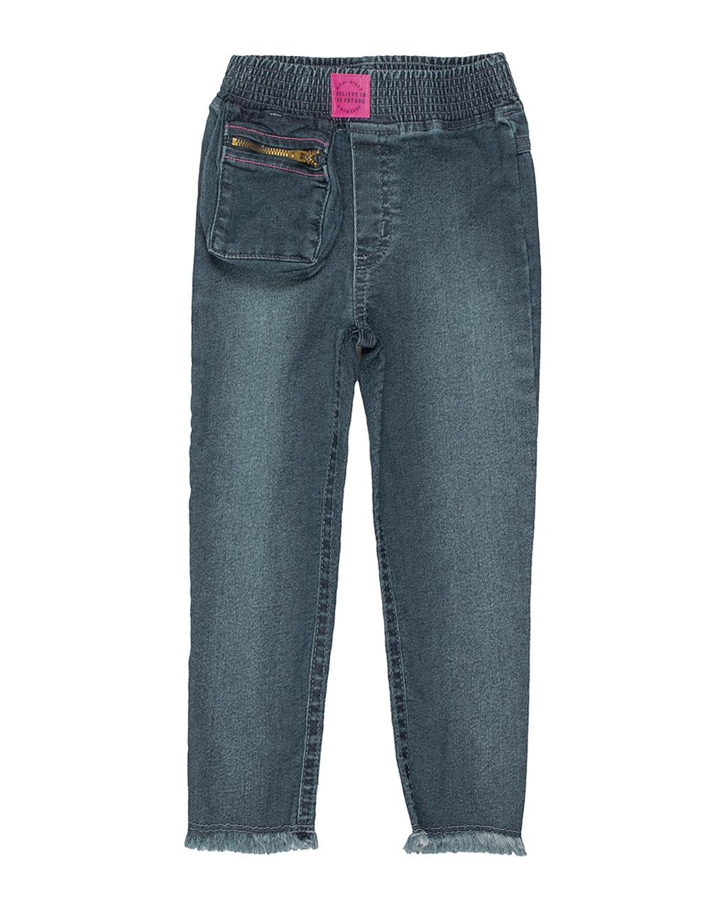 Calça Jeans Infantil com Bolso Externo Momi