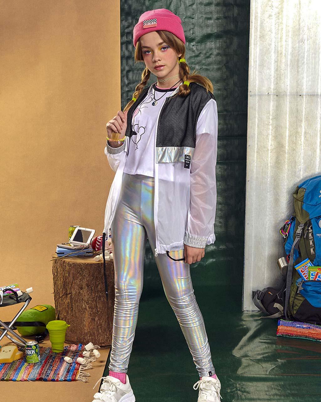 Calça Teen Legging Holográfica I Am