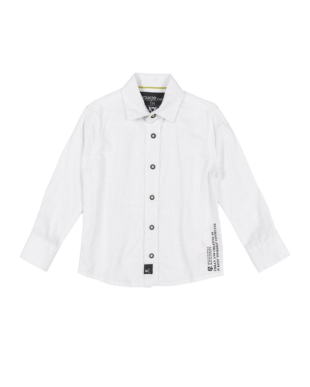 Camisa Infantil Vereno Flamê Branco Youccie