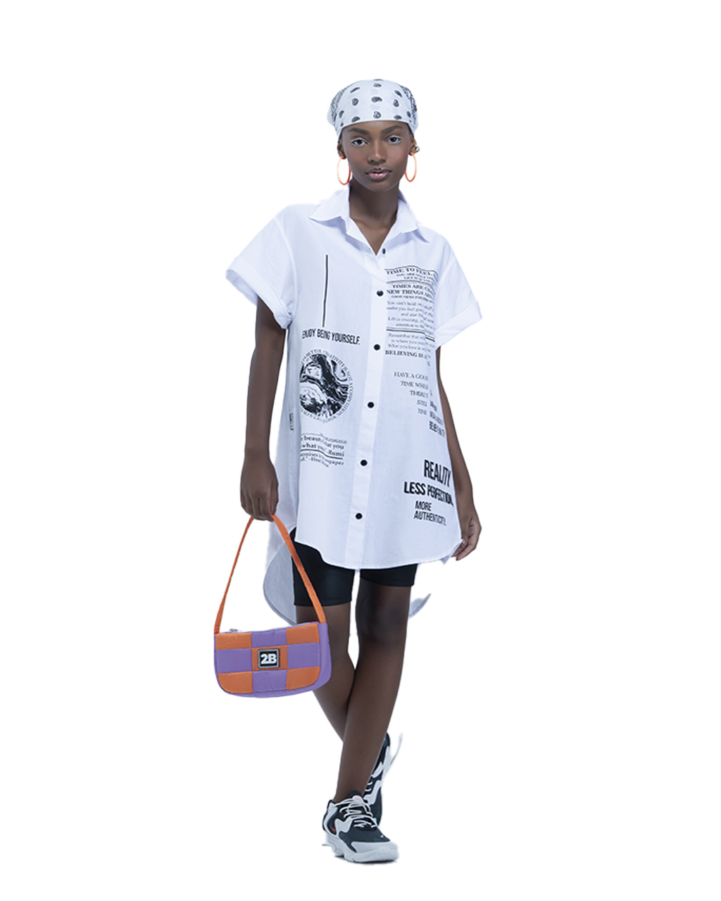 Camisa Vestido Teen Oversized Off White Fruto