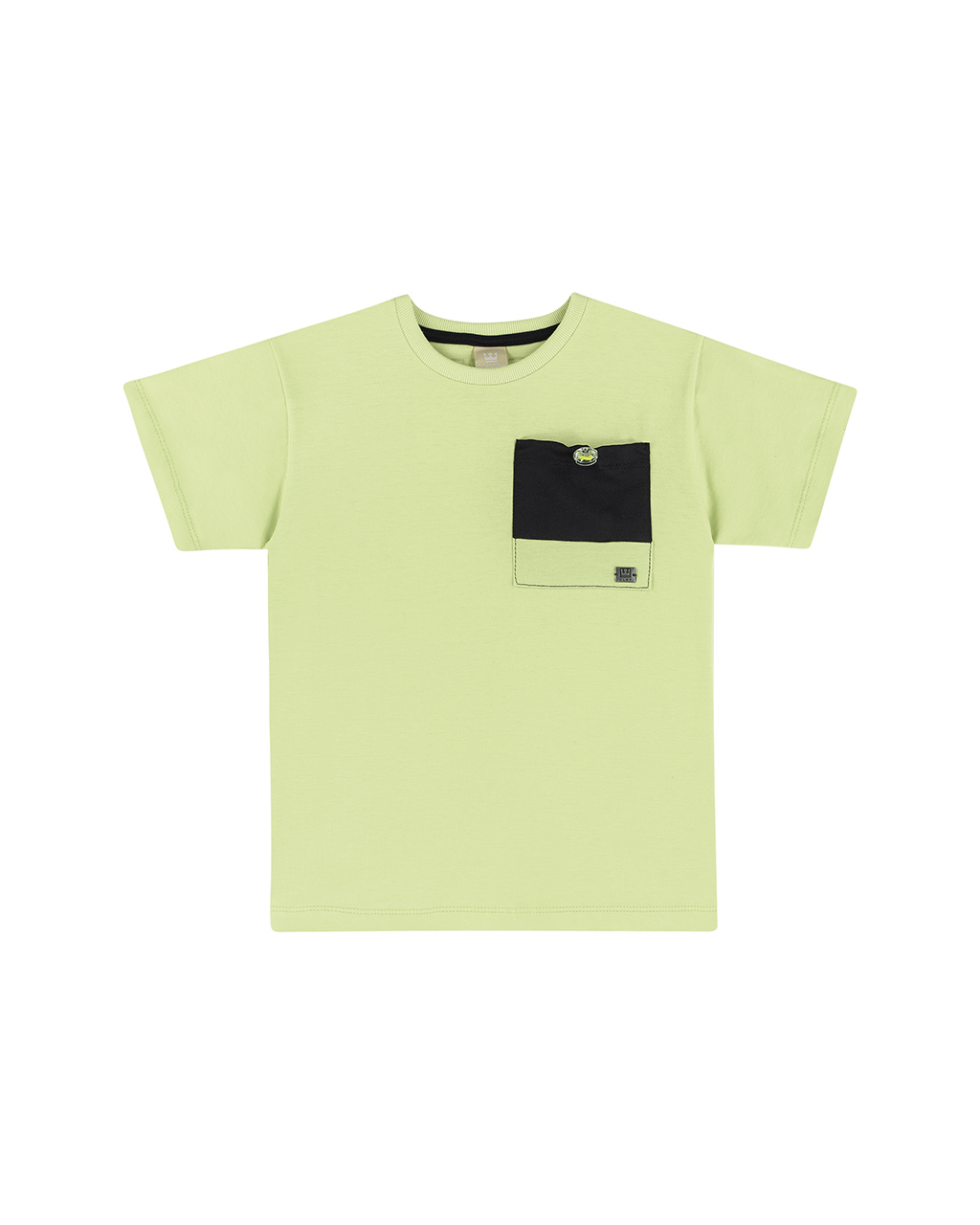 Camiseta Infantil com Bolso Verde Coloritta