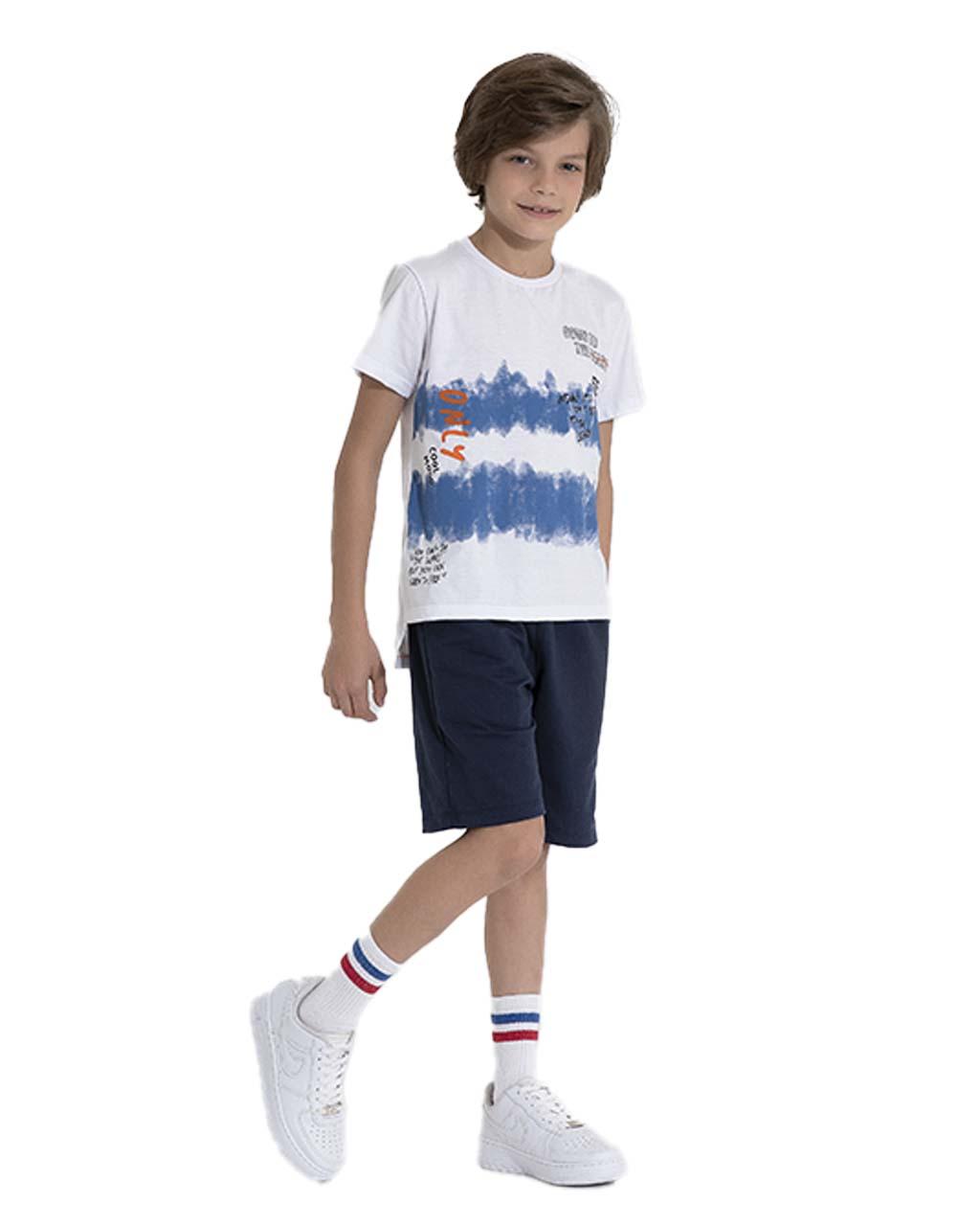 Camiseta Infantil Only Off White Pega Mania