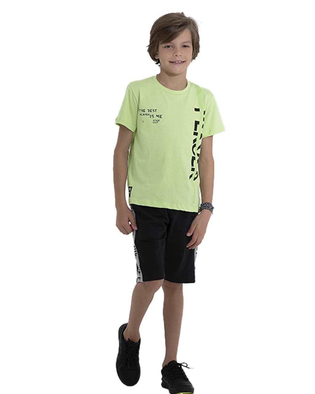 Camiseta Infantil Player Verde Pega Mania