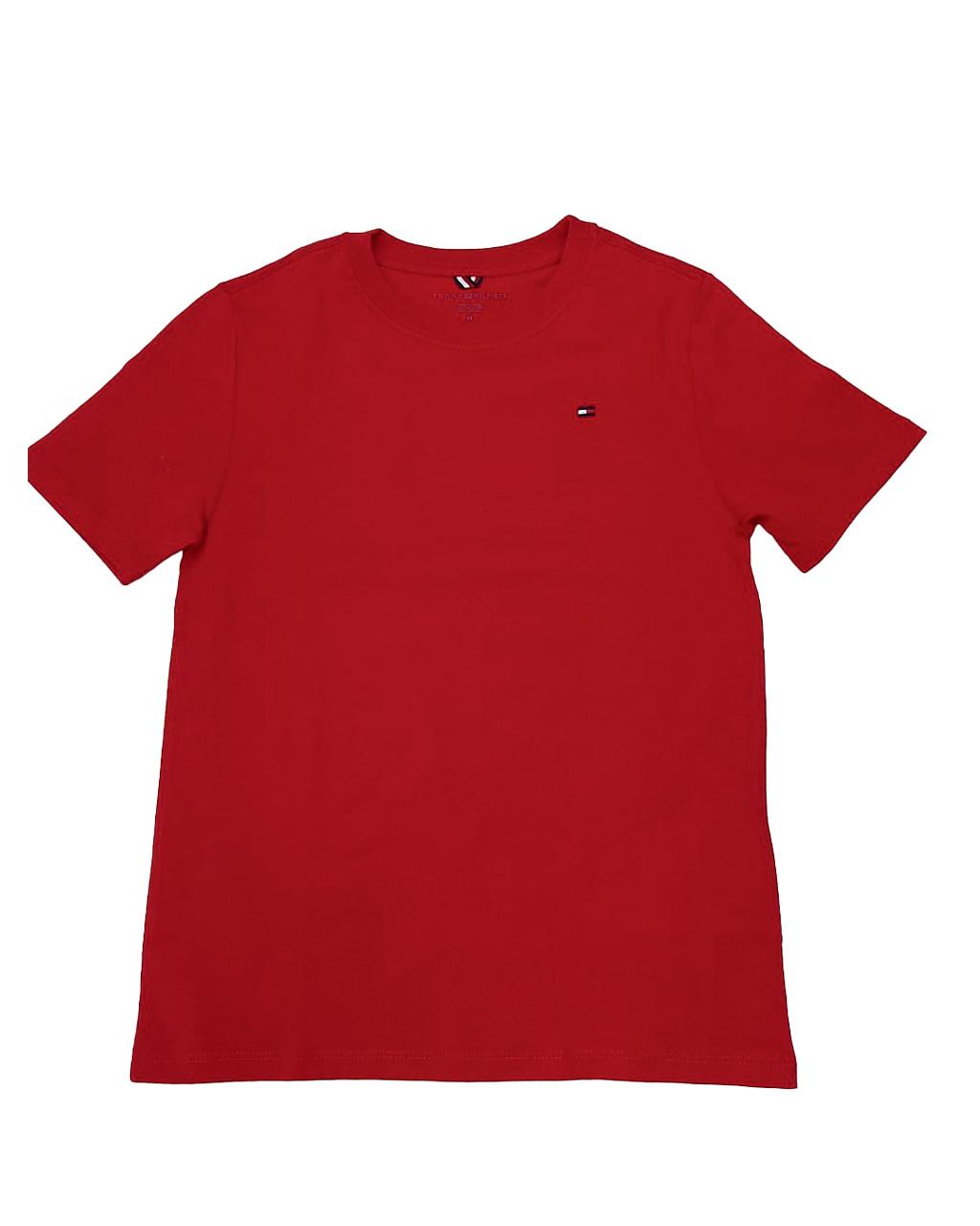 Camiseta Infantil Vermelha Tommy Hilfiger