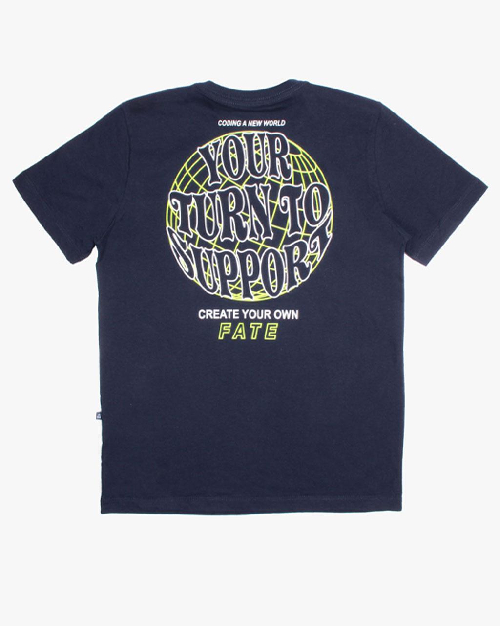 Camiseta Teen Masculina Support Azul Marinho Banana Danger