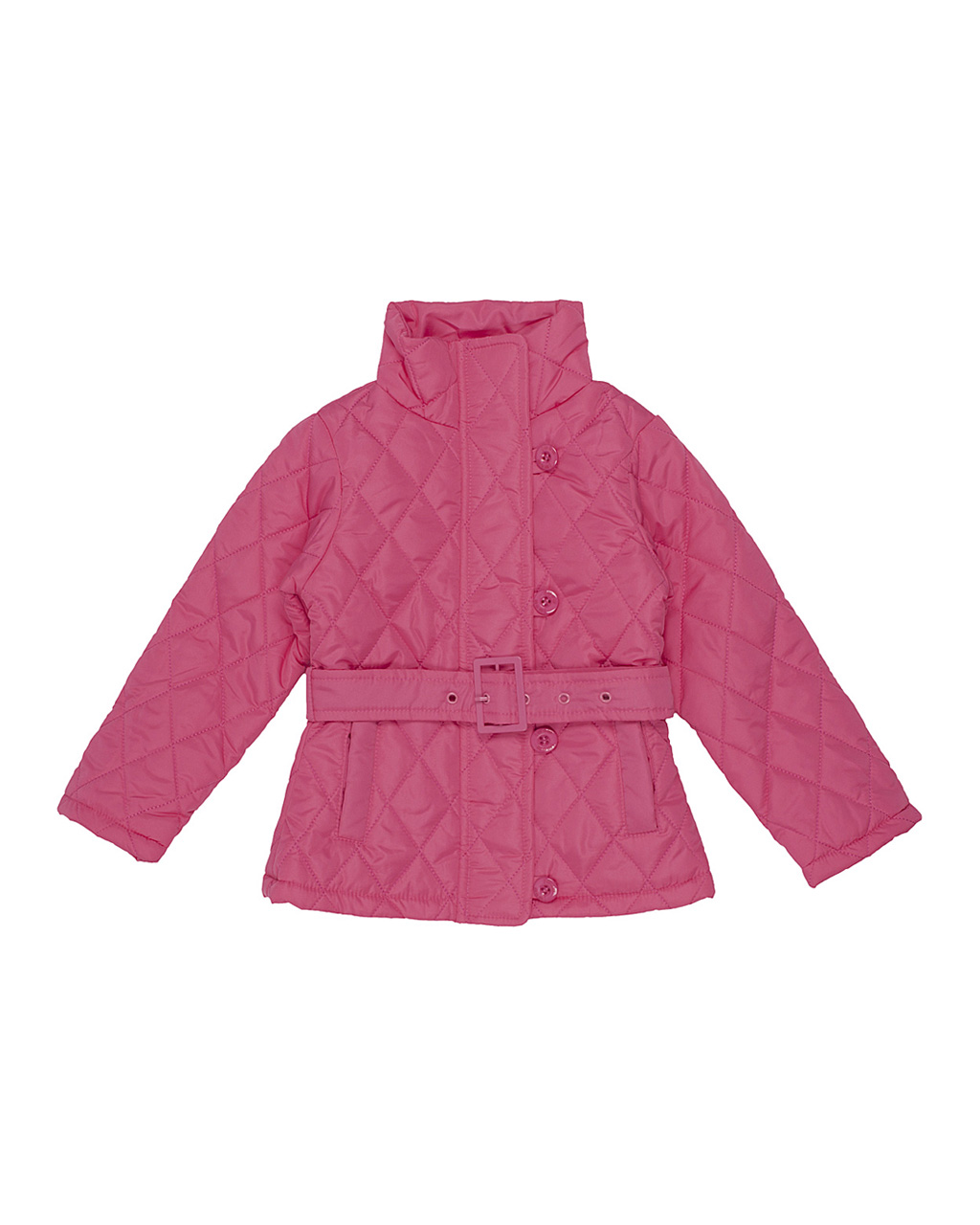 Casaco Infantil Matelassê Rosa Neon Momi