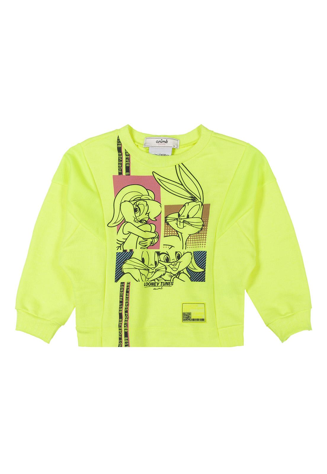Casaco Infantil Moletom Com Dry Neon Licenciado Animê