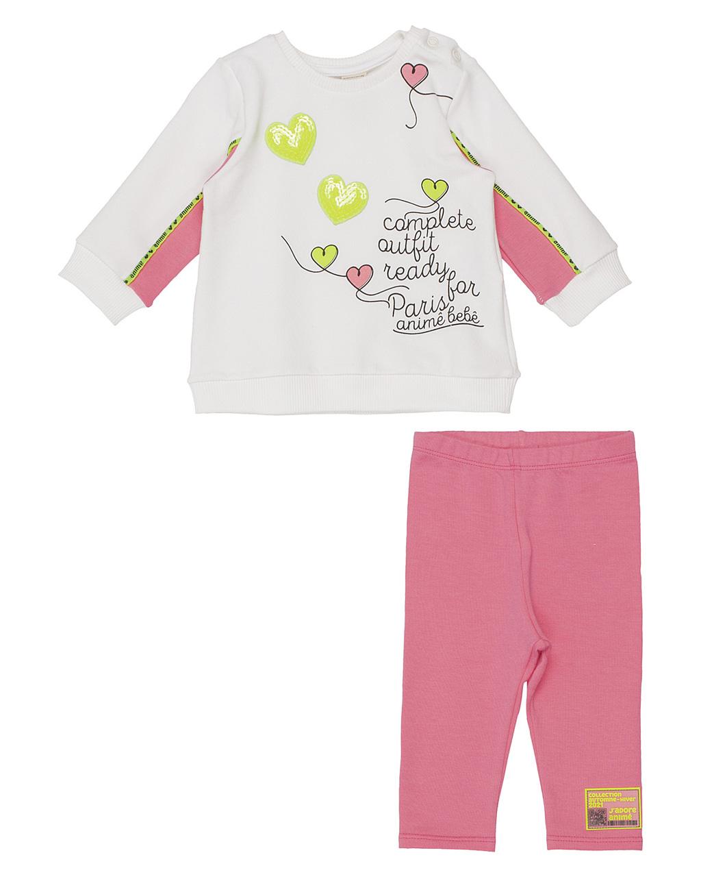 Conjunto Baby Blusão Paris Molecotton E Legging Molecotton Animê