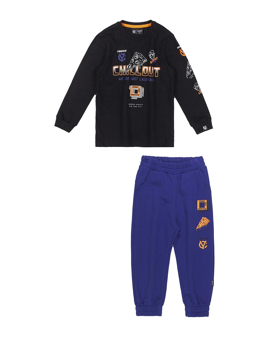 Conjunto First T-Shirt E Calça Moletom Chillout Youccie
