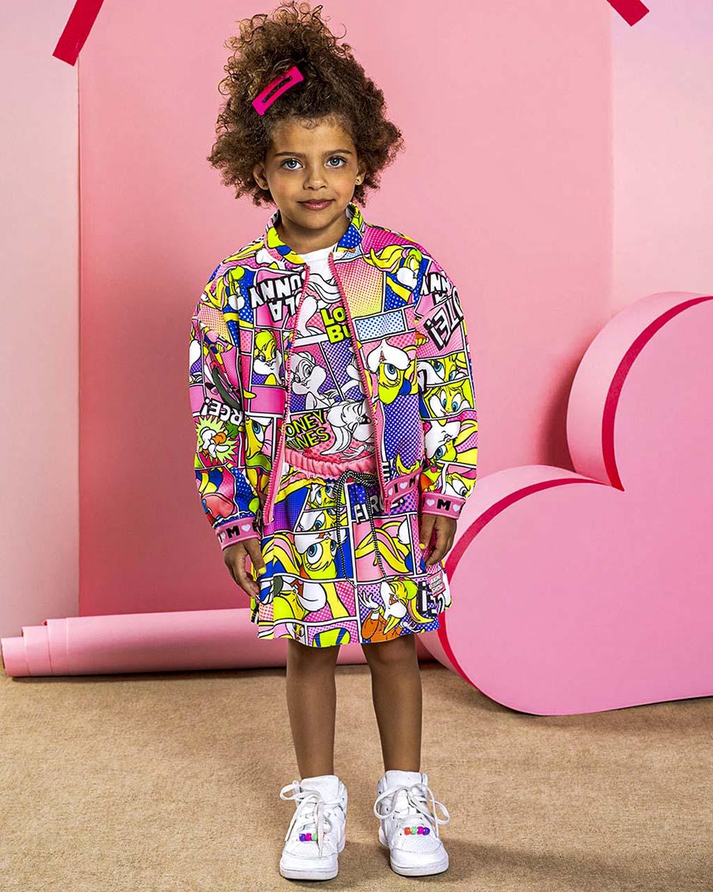 Conjunto Infantil Blusa Arte Lola e Shorts Saia Arte Lola Licenciado Animê