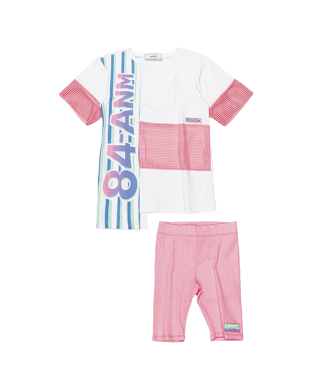 Conjunto Infantil Blusa com Bermuda Ciclista Animê