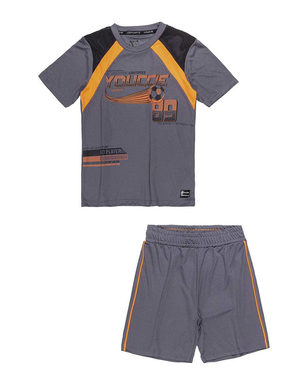 Conjunto Infantil Blusa E Calça Active Esporte Detalhe Neon Youccie