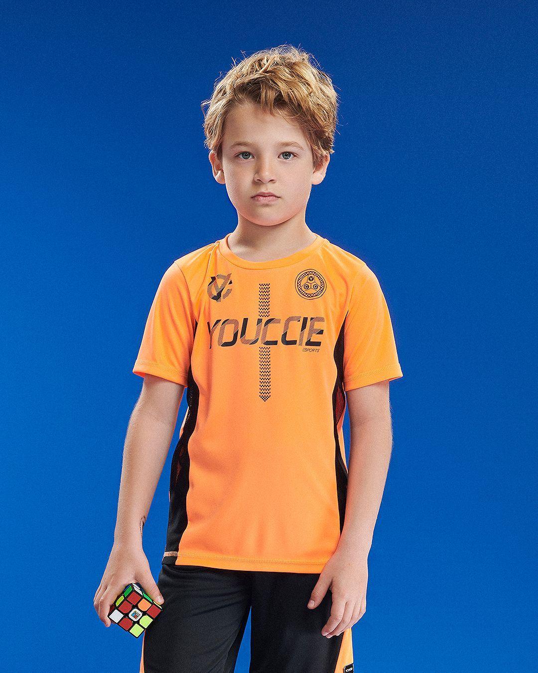 Conjunto Infantil Blusa E Calça Active Esporte Laranja Neon Youccie