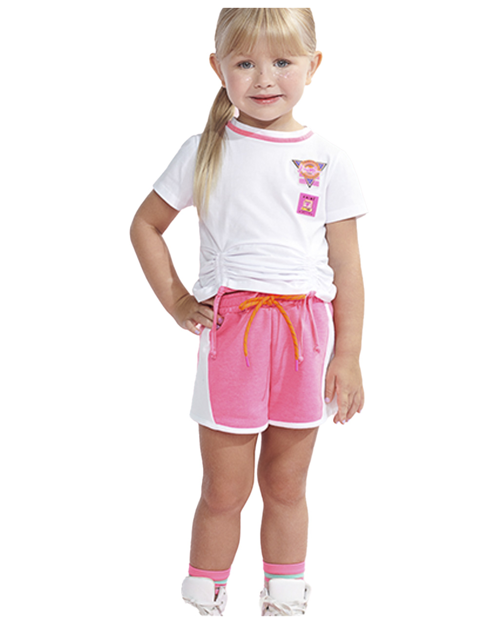 Conjunto Infantil Blusa e Shorts Moletom Anime