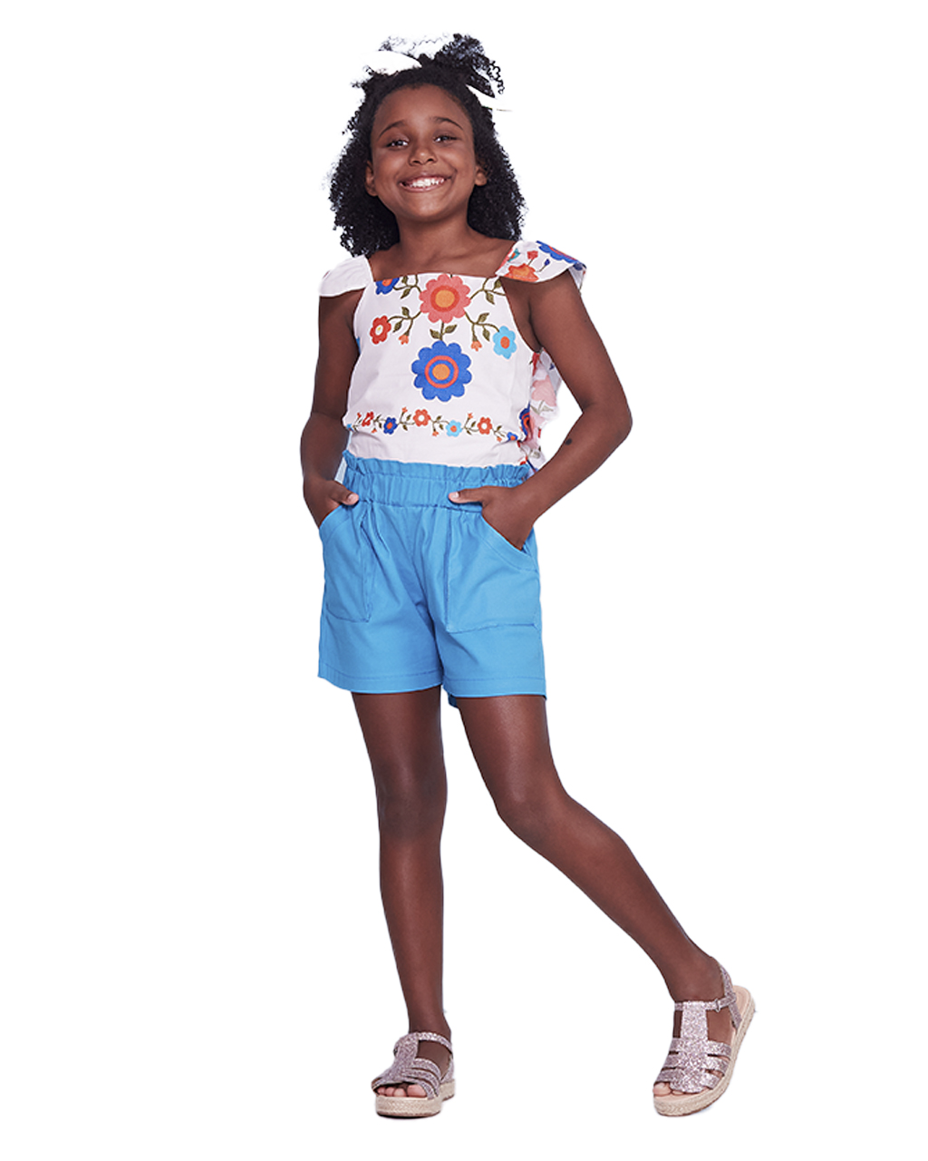 Conjunto Infantil Blusa e Shorts Precoce