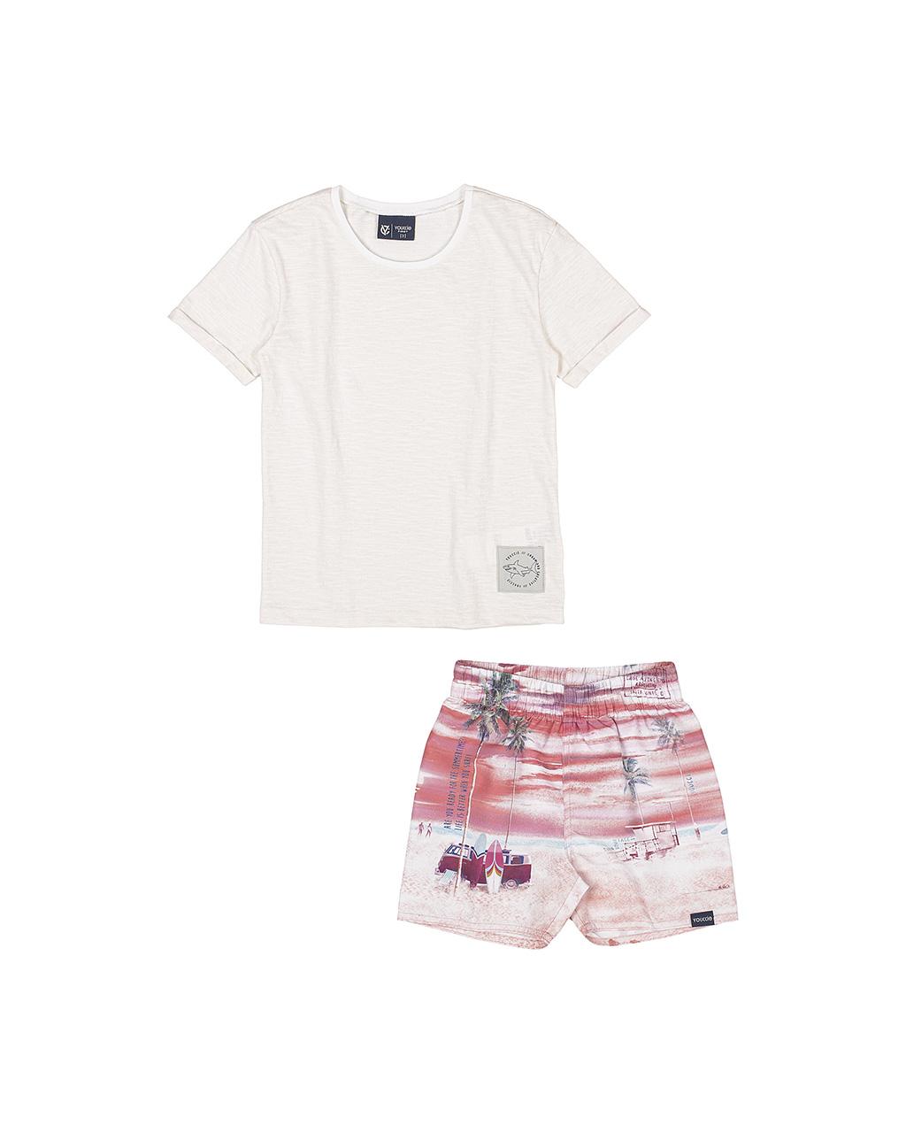 Conjunto Infantil Blusa e Shorts Tropical Youccie