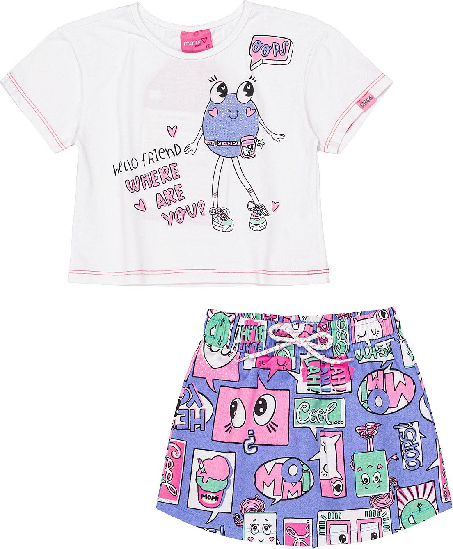 Conjunto Infantil Blusa Hello Friend e Shorts Momi